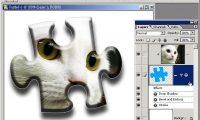 Photoshop 教學 - 剪裁遮色片 - 設計立體拚圖片