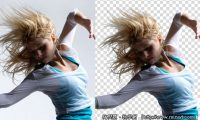 Photoshop 教學 - Alpha Channel 頭髮去背 - 金髮美女篇
