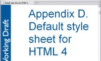 Appendix D. Default style sheet for HTML 4