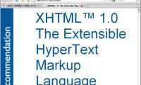 XHTML 1.0 是使用 HTML 4 整合 XML1.0 所產生的新網頁標準語言