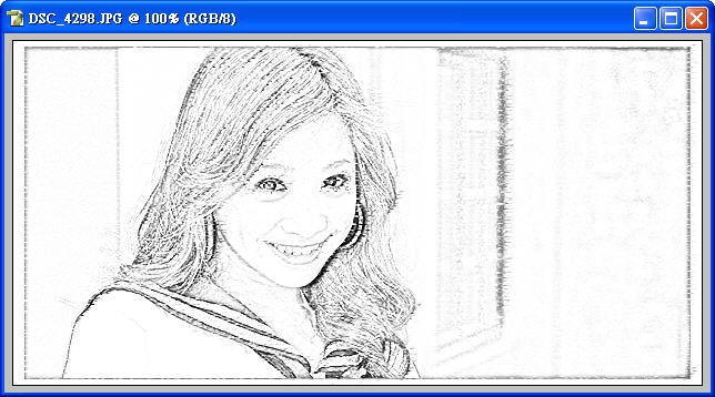 Photoshop 影像設計 Photoshop 後製修圖  - Photoshop 將普通的照片轉換成很逼真的鉛筆素描畫 - snag_08_143