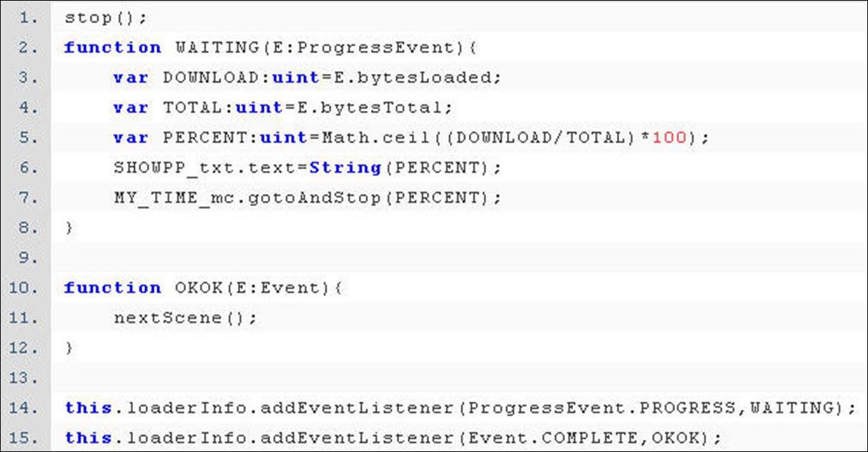 ActionScript 程式設計  - ActionScript 3.0 入門教學 - Loading 動畫下載進度 - fly023