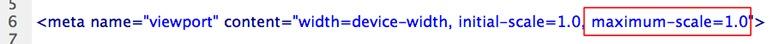 Mobile Web 手機網頁  - 修正 iPhone 手機旋轉後畫面會放大的問題 - 033