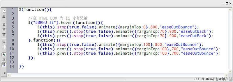 JavaScript 程式設計  - jQuery Animate 基本動畫練習 - 動態按鈕 - FLY02_thumb