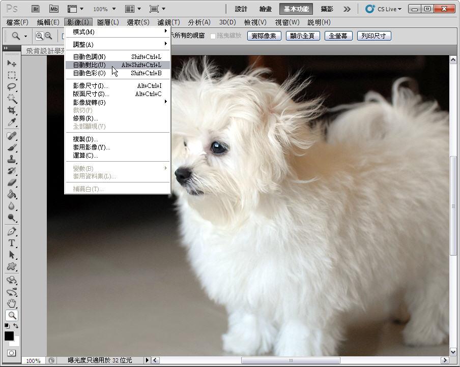 Photoshop 影像設計  - 【Photoshop 後製修圖教學】 自動色調,自動對比,自動色彩。 - fly-04