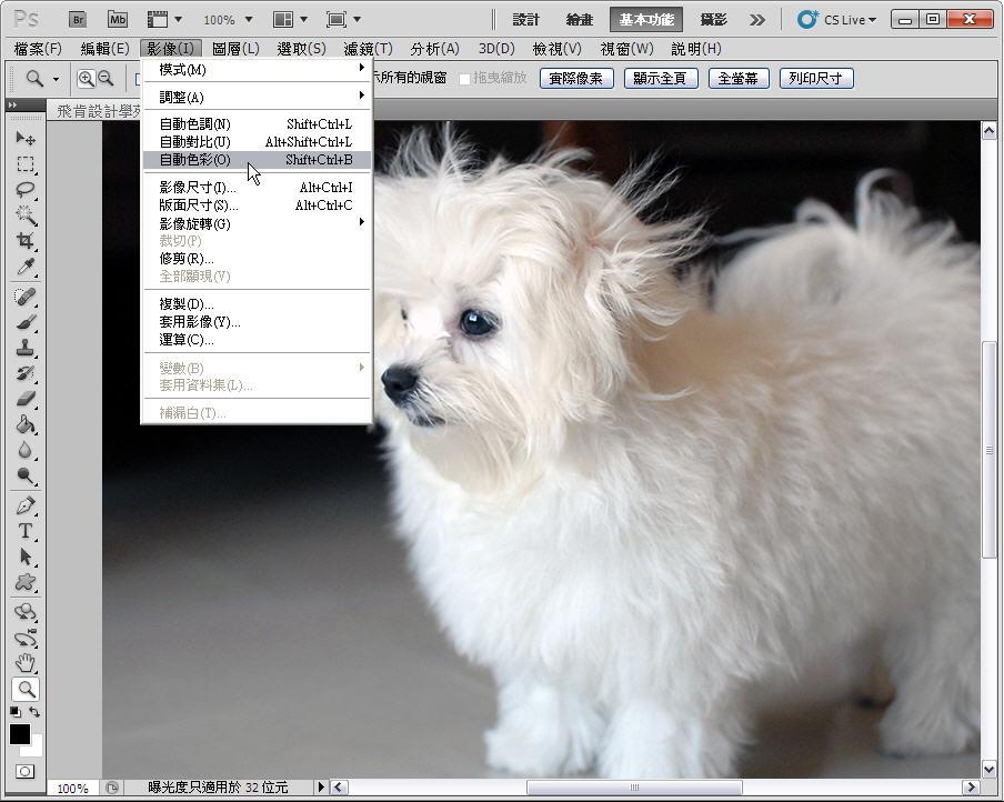 Photoshop 影像設計  - 【Photoshop 後製修圖教學】 自動色調,自動對比,自動色彩。 - fly-05