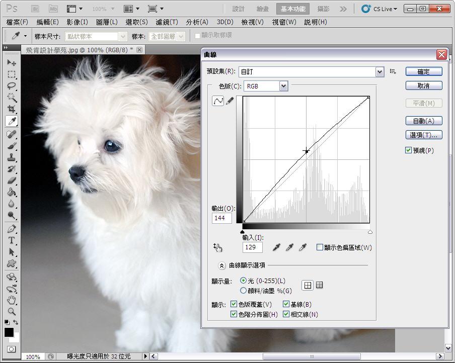 Photoshop 影像設計  - 【Photoshop 後製修圖教學】 自動色調,自動對比,自動色彩。 - fly-09