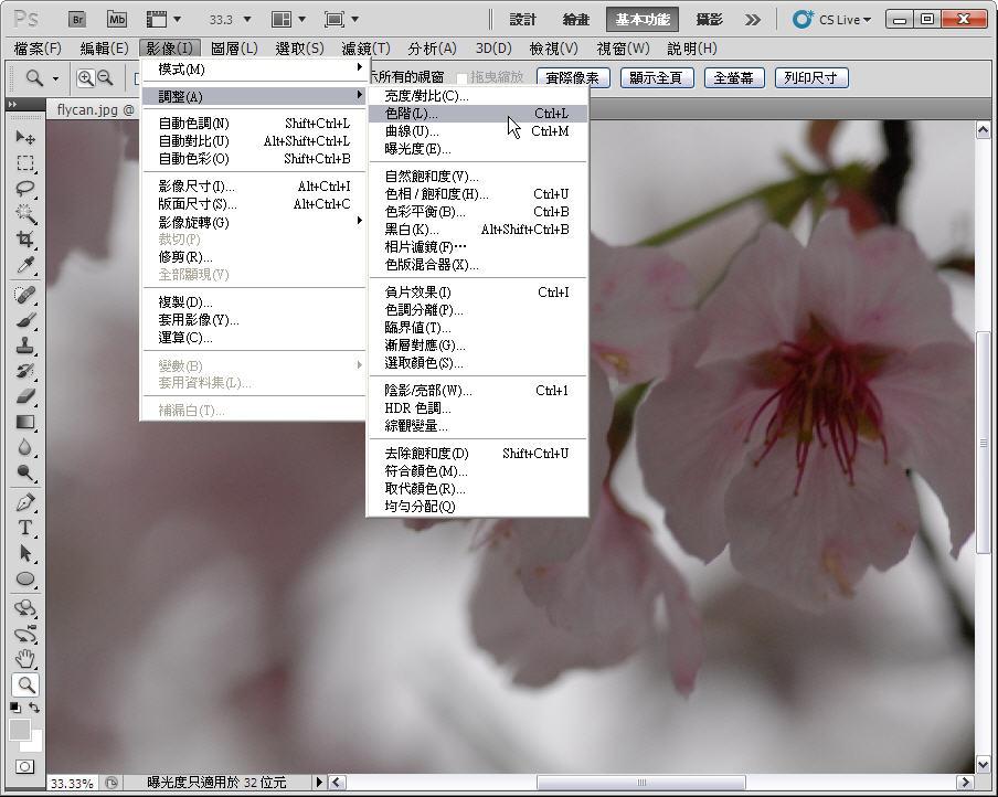 Photoshop 後製修圖  - 【 Photoshop 後製修圖教學】 拍好櫻花的後製技巧 - fly-1