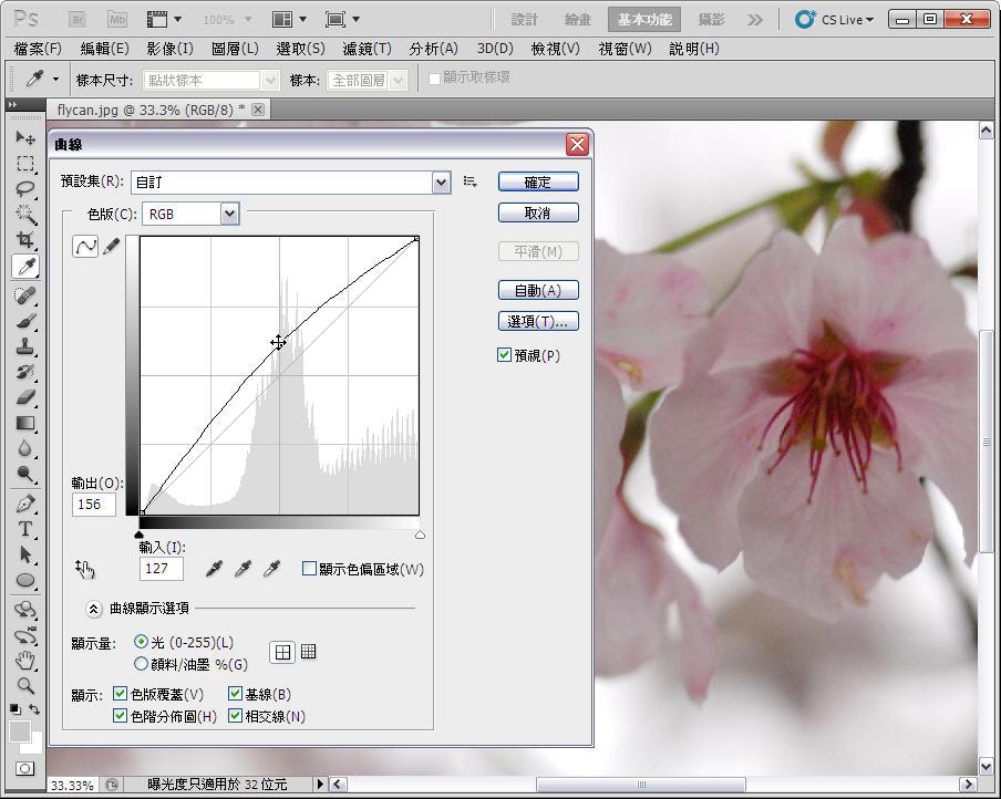 Photoshop 後製修圖  - 【 Photoshop 後製修圖教學】 拍好櫻花的後製技巧 - fly-2-1