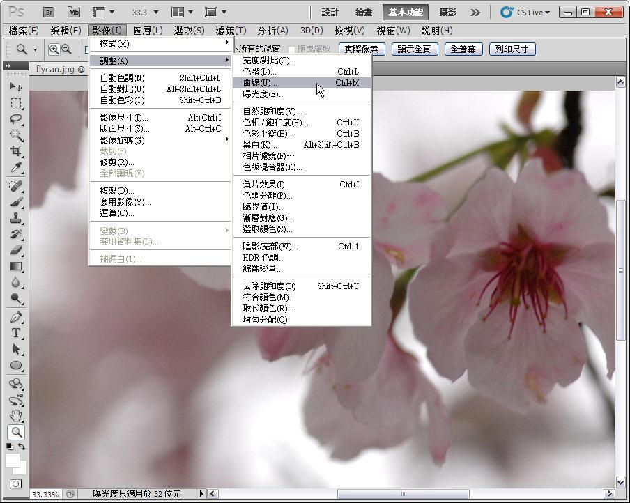 Photoshop 後製修圖  - 【 Photoshop 後製修圖教學】 拍好櫻花的後製技巧 - fly-2