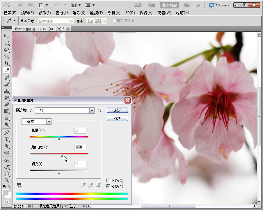 Photoshop 後製修圖  - 【 Photoshop 後製修圖教學】 拍好櫻花的後製技巧 - fly-3-1