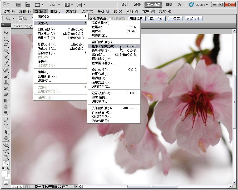 Photoshop 後製修圖  - 【 Photoshop 後製修圖教學】 拍好櫻花的後製技巧 - fly-3