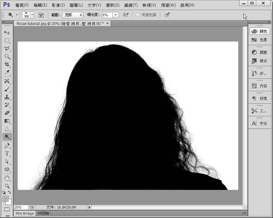 Photoshop 影像設計  - Photoshop 教學 - 色版工具 - 頭髮去背 - fly-12