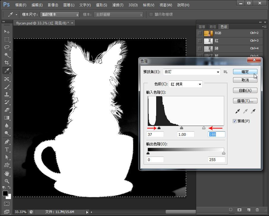 Photoshop 影像設計  - Photoshop 教學 – 色版工具 –動物毛髮去背 - fly-181