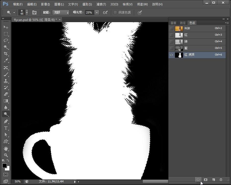 Photoshop 影像設計  - Photoshop 教學 – 色版工具 –動物毛髮去背 - fly-241