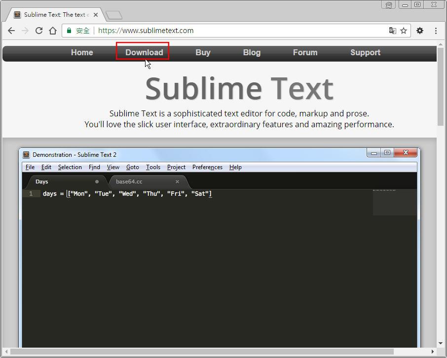 Free Resource 好康報報  - 教學:淺談 Sublime Text 的安裝設定及入門操作 - [ 上篇 ] - sub-01