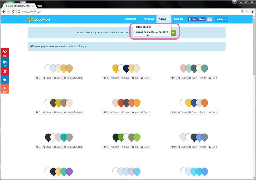 Free Resource 好康報報 Good Design 好站報報  - 【靈感來源】COLORION-尋找配色靈感的好幫手 - colorion-15