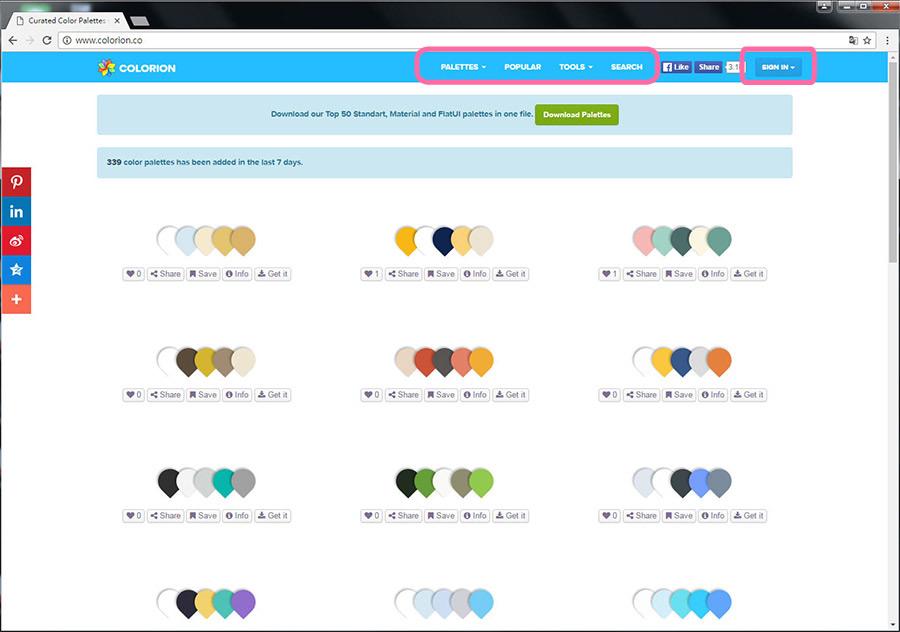 Free Resource 好康報報 Good Design 好站報報  - 【靈感來源】COLORION-尋找配色靈感的好幫手 - colorion-16