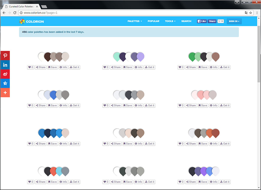Free Resource 好康報報 Good Design 好站報報  - 【靈感來源】COLORION-尋找配色靈感的好幫手 - colorion