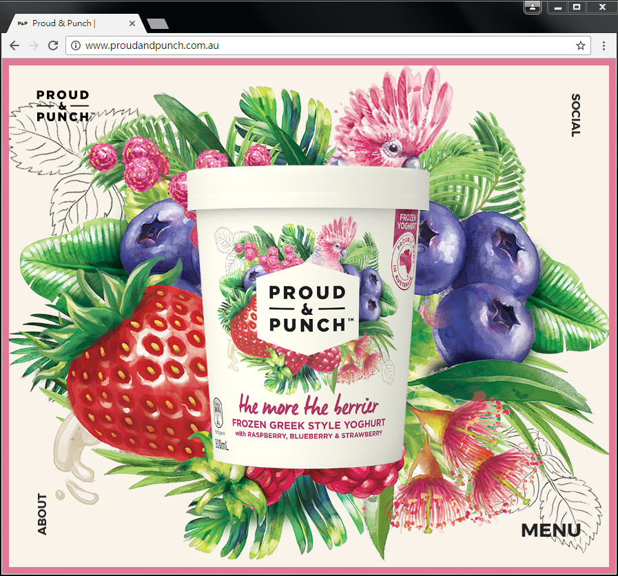 Good Design 好站報報  - 【好站欣賞】手繪風格優格冰淇淋網站欣賞! - proud-7