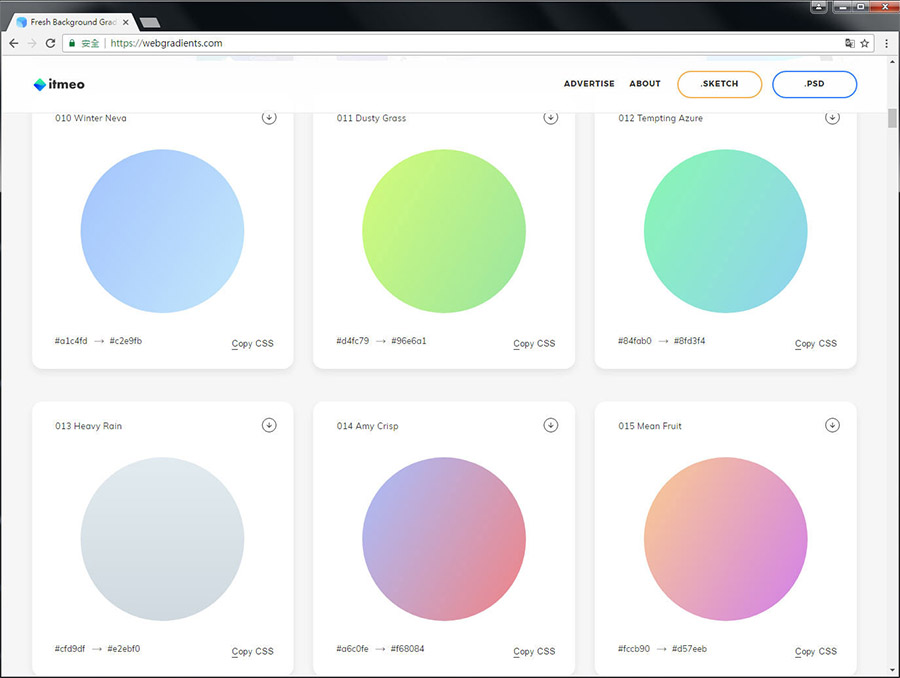 Free Resource 好康報報 Good Design 好站報報  - 【靈感來源】Fresh Background Gradients-免費180種漸層配色集合 - webgradients-3