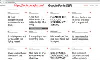 google fonts index