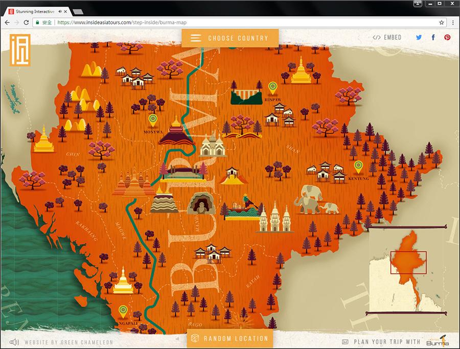 Good Design 好站報報  - 【好站欣賞】InsideAsia-有趣的地圖,一起來探索景點吧! - explore-11