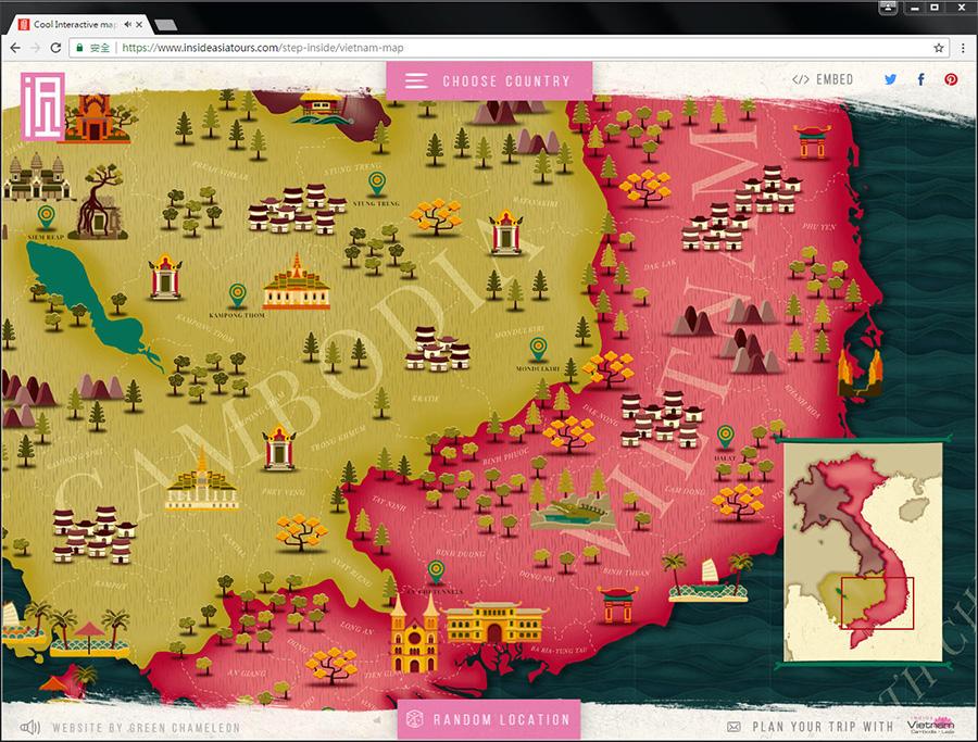 Good Design 好站報報  - 【好站欣賞】InsideAsia-有趣的地圖,一起來探索景點吧! - explore-9