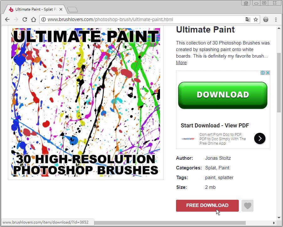 Free Resource 好康報報 Photoshop 影像設計  - 筆刷 - 【設計資源】多款 Photoshop 藝術風筆刷下載 - 08-1