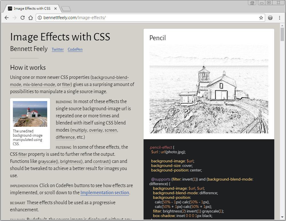 Free Resource 好康報報 Good Design 好站報報  - 【設計資源】 - 「 Image Effects 」 : 可線上套用 CSS 濾鏡特效好站 - 9