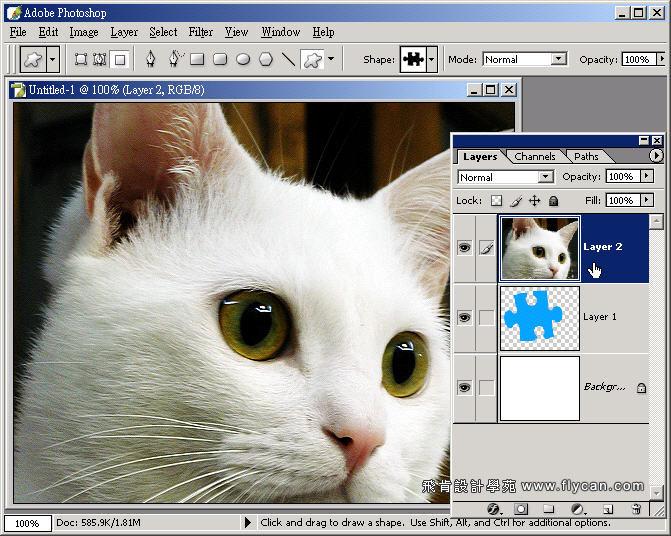 Photoshop 影像設計  - Photoshop 教學 - 剪裁遮色片 - 設計立體拚圖片 - 02_281_211