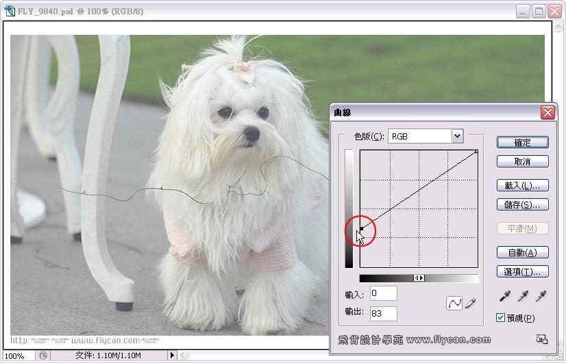 Photoshop 影像設計 Photoshop 後製修圖  - Photoshop 教學 - 曲線 - 亮度調整 - 入門篇【一】 - curve_04_211