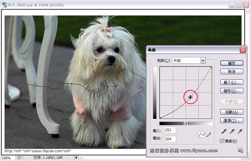 Photoshop 影像設計 Photoshop 後製修圖  - Photoshop 教學 - 曲線 - 亮度調整 - 入門篇【一】 - curve_07_630