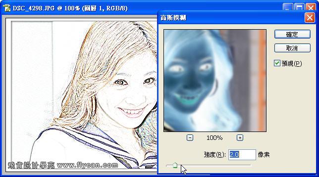 Photoshop 影像設計 Photoshop 後製修圖  - Photoshop 將普通的照片轉換成很逼真的鉛筆素描畫 - snag_04_148