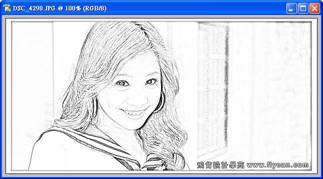 Photoshop 影像設計 Photoshop 後製修圖  - Photoshop 將普通的照片轉換成很逼真的鉛筆素描畫 - snag_06_209