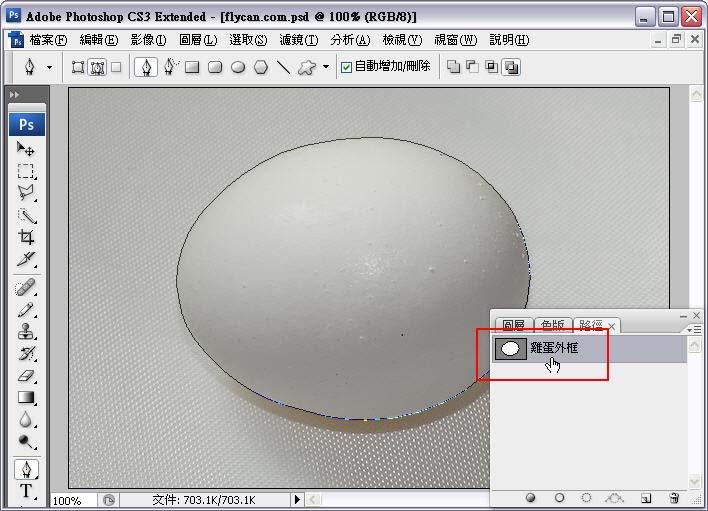 Photoshop 影像設計  - Photoshop 去背教學 - 「筆型工具」「路徑」去背 - 入門篇 - path-04