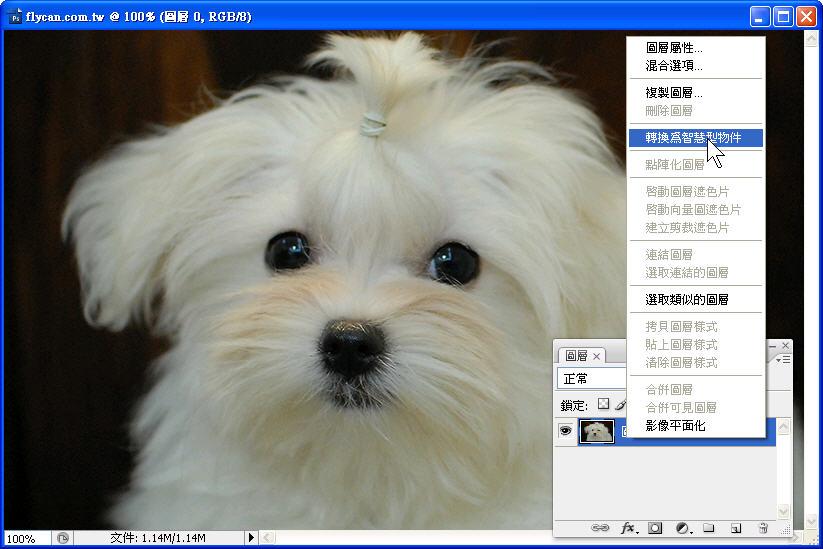 Photoshop 影像設計  - 初探 Photoshop 智慧型物件 - 圖片連續縮放 - 不失真 - 1_499687445e3b9